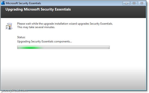 upgrade process microsoft security essentials 2.0 beta