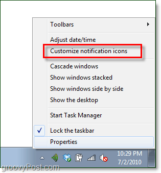 customize windows 7 system tray notifications