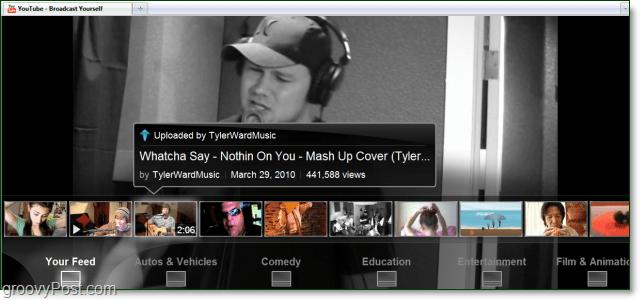 youtube leanback video feed