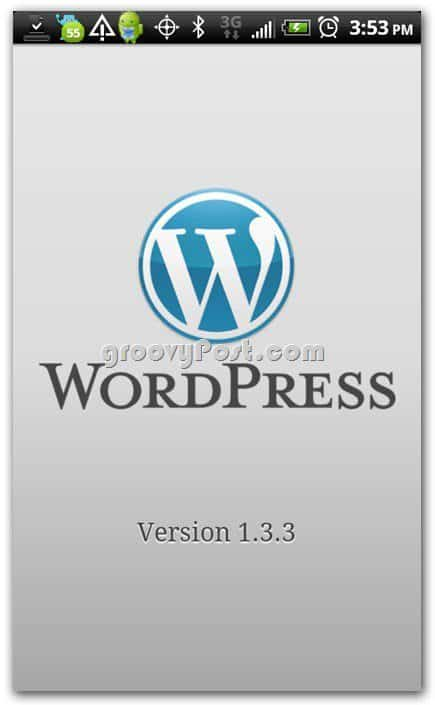 Wordpress on Android version 1.33