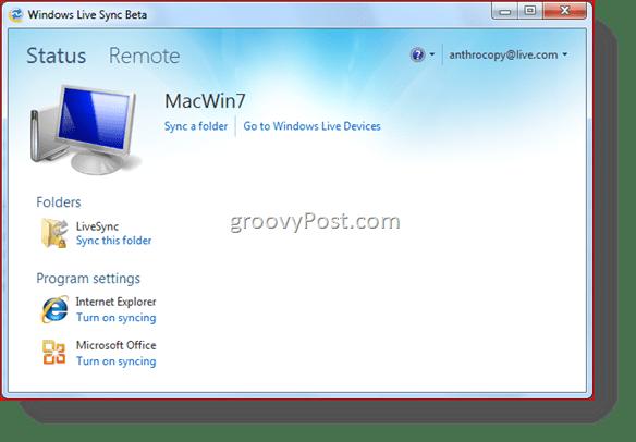 Windows Live Sync Beta