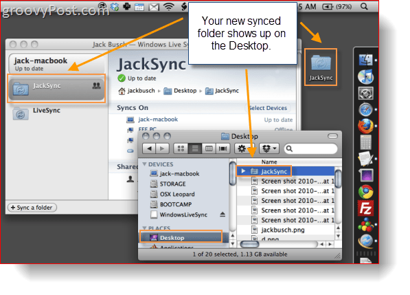 Windows Live Sync Beta on OS X