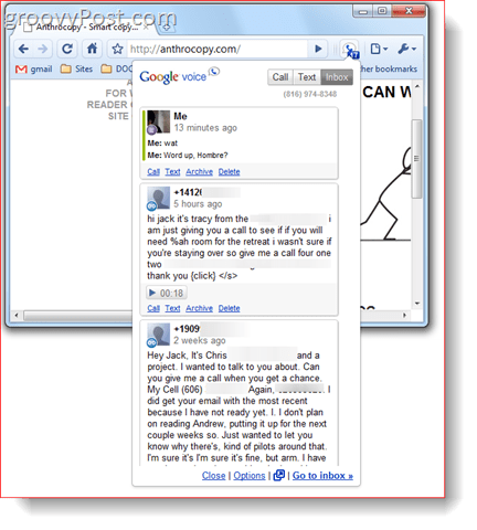 Google Voice for Google Chrome Extension