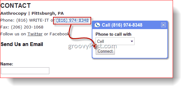 Clickable Calls with Google Voice