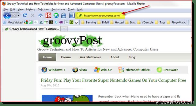 Screenshot GroovyPost.com