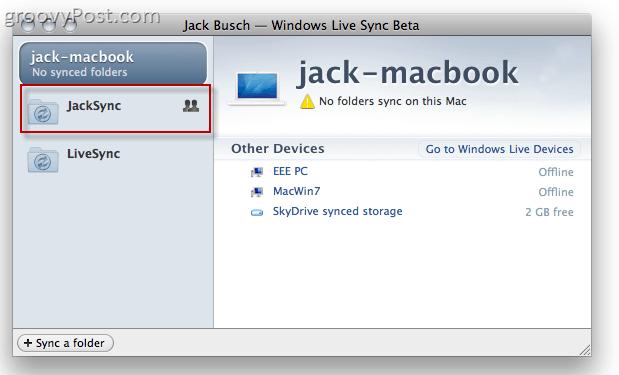 Windows Live Sync Beta on OS X