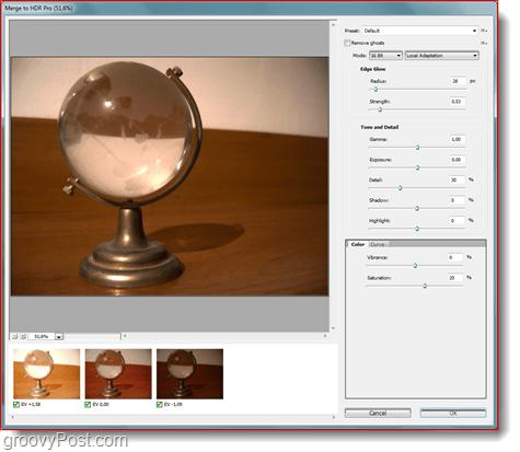 HDR Pro - Merging Photos