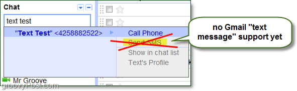 send google voice sms from gmail