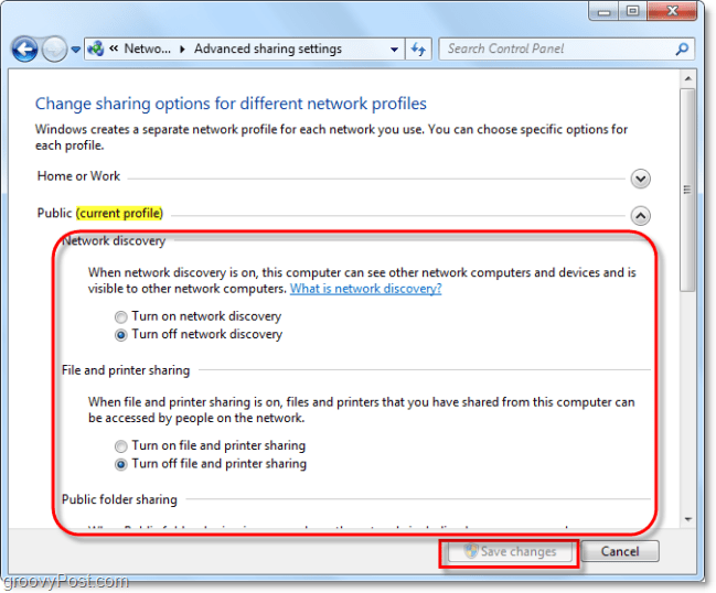 advanced windows sharing settings