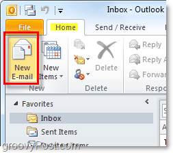 compose new outlook 2010 email