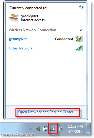 manage networks from the windows 7 system tray