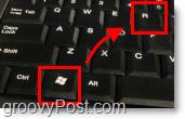 windows key with r