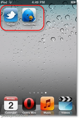 Twitter and twitterific iphone app