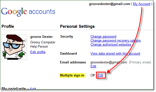 google account management multiple=