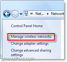manage wireless networks control panel
