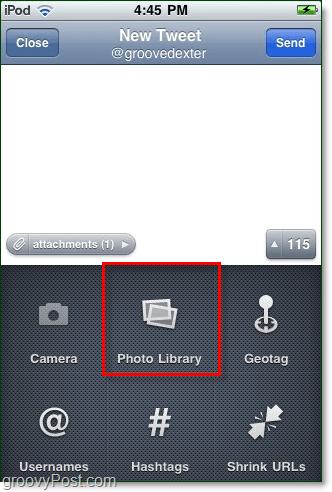 twitter iphone app photo upload