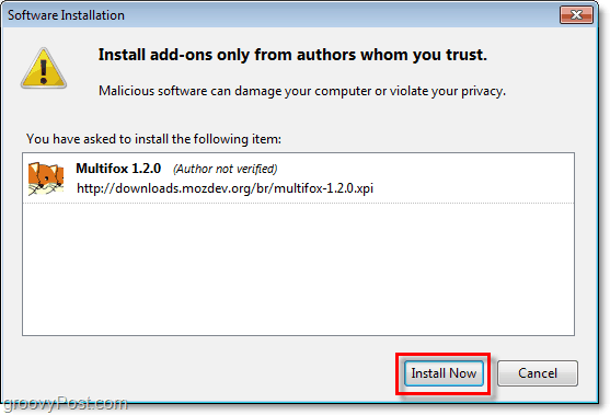 install now firefox multifox extensions