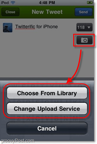 twitterific iphone app photo upload