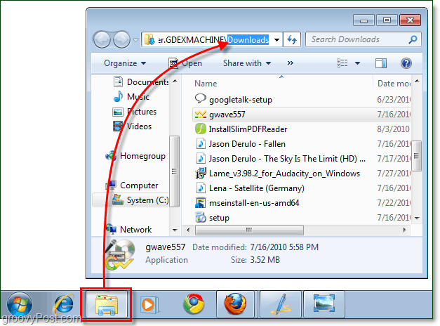 custom windows explorer default folder