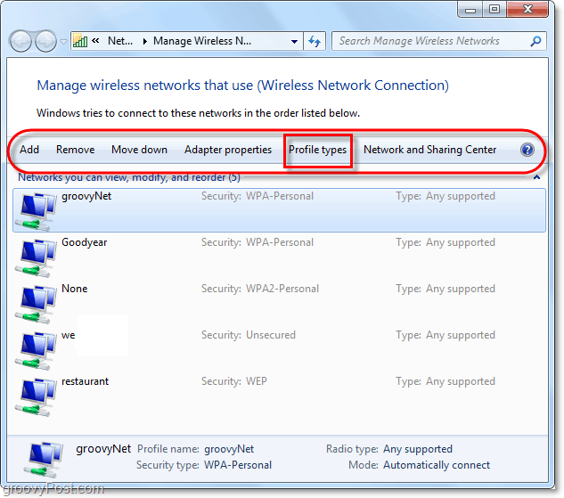 adjust wireless network settings