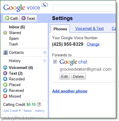 mark your google chat as