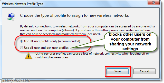 manage windows 7 network profile type