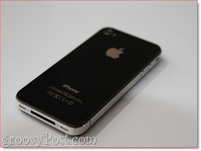 iPhone 4 - back : groovyPost.com