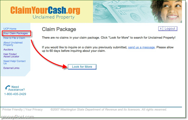 find unclaimed property packages