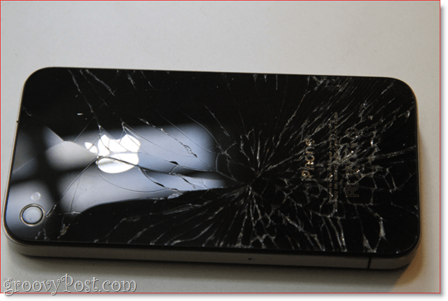 Shattered iPhone 4 - breaks my heart : groovyPost.com