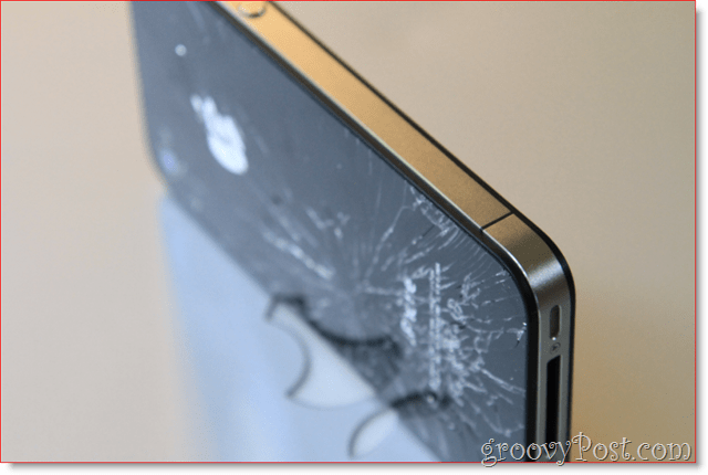 Shattered iPhone 4 - breaks my heart : groovyPost.com
