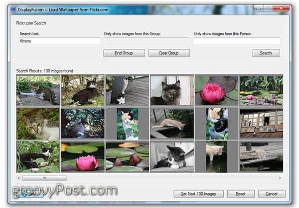 choose flickr integration settings