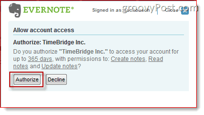 Evernote Plus TimeBridge