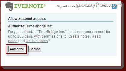 Evernote Plus TimeBridge
