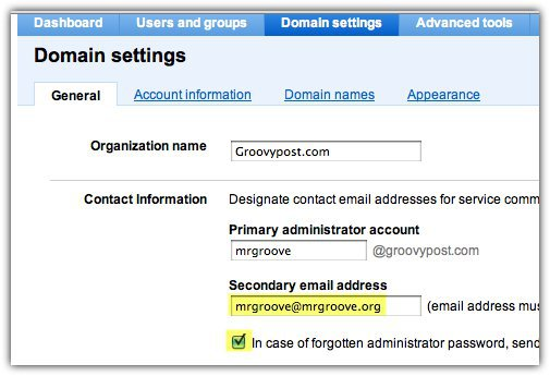 Add Secondary Email Addess to Google Apps Account