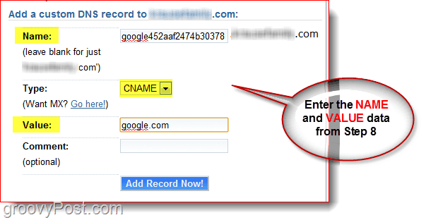 Manage your Domain DNS at Dreamhost.com CNAME