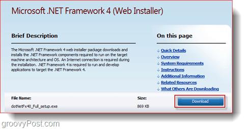 update microsoft.net framework