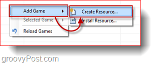 create vista games explorer resource