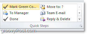 customize quick step list in outlook 2010