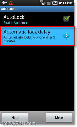 set time for pattern lock on android phone