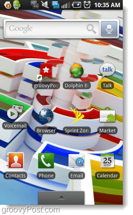 stock android interface UI