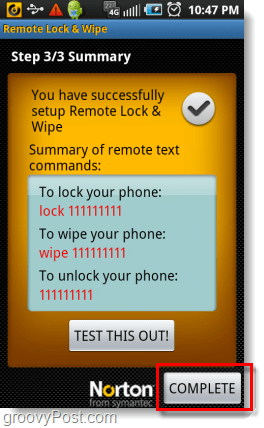 wipe your android phone using a text message