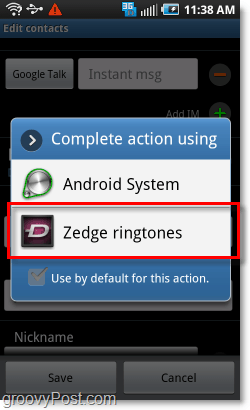 use zedge to set ringtones