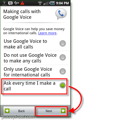 Google Voice on Android Mobile Config Usage Preference