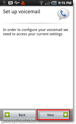 Google Voice on Android Mobile Voicemail Setup