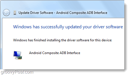 windows has installed android composite adb interface