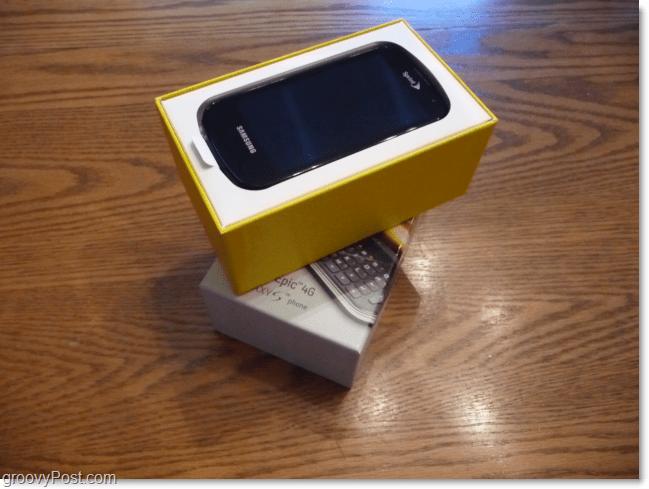samsung galaxy in box