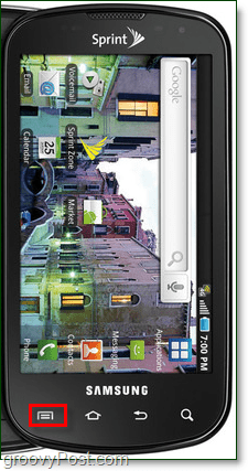 samsung galaxy epic 4g android menu button
