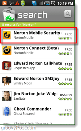 download android  norton mobiles security