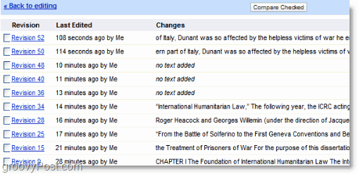 classic revision history tool from google docs