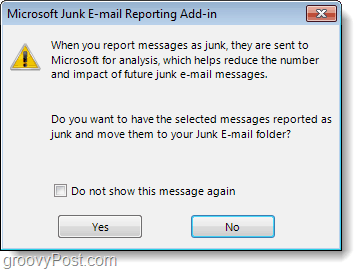 junk email reporting add-in outlook